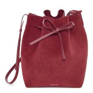 Mansur Gavriel Suede Bucket Bag in Rococo